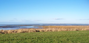 The North Sea near Friedrichskoog in December at low tide