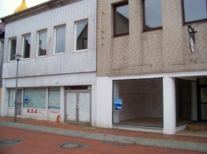 Empty shops in the center of Itzehoe