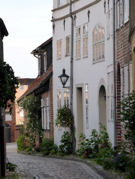 Typical street in the old part of Lüneburg