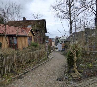 Small street in Kellinghusen